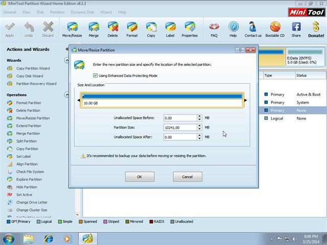 Phân vùng partition bằng MiniTool trên Windows