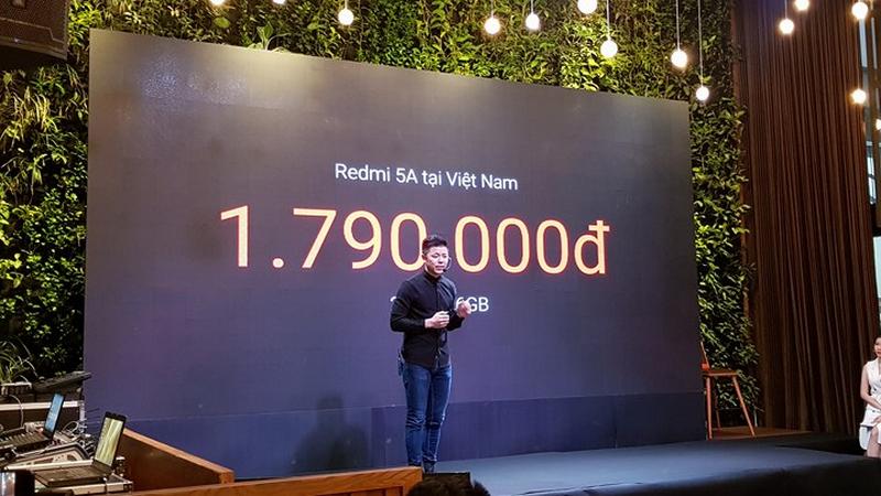 Xiaomi Redmi 5A camera 13MP, chip Snapdragon ra mắt tại Việt Nam với giá chỉ 1.79 triệu