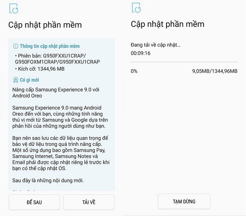 Tin vui: Galaxy S8 tại Việt Nam chính thức lên đời Android 8 Oreo