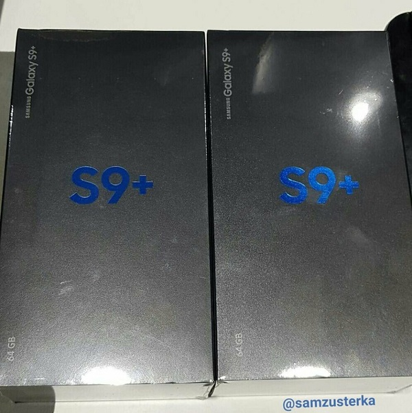 Hình ảnh hộp đựng kèm thông số của Galaxy S9 Plus xuất hiện tại Việt Nam