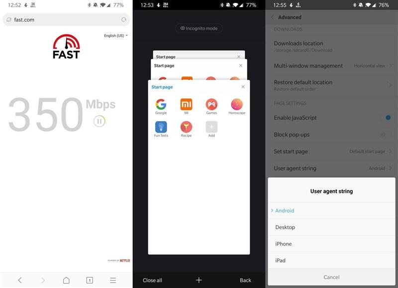 Xiaomi Mint, trình duyệt siêu nhẹ và siêu nhanh dành cho Android