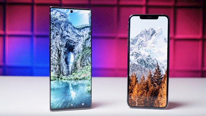 galaxy note 10 và iphone 11