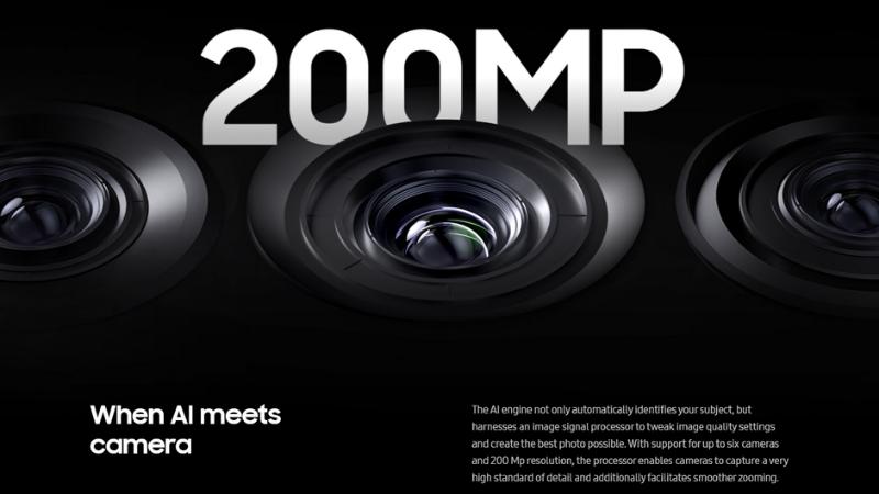 COn chip mới của Samsung hỗ trợ camera với độ phân giải tối đa lên tới 200MP.