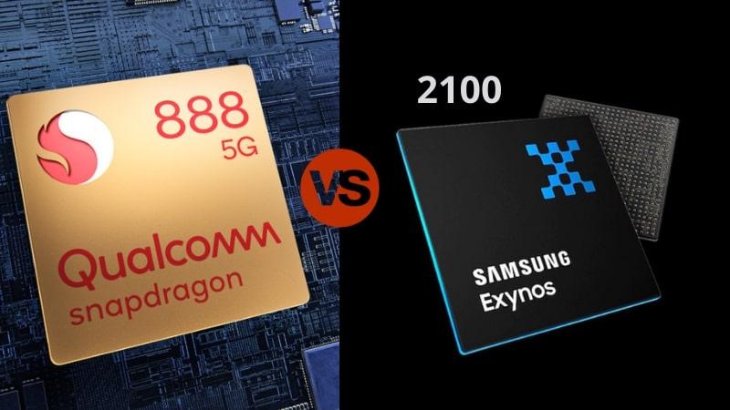 Snapdragon 888 vs Exynos 2100.