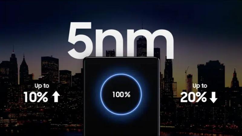 Exynos 2100 xây dựng trên tiến trình 5nm cải thiện hiệu năng 10%, trong khi tiết kiệm điện hơn 20%.