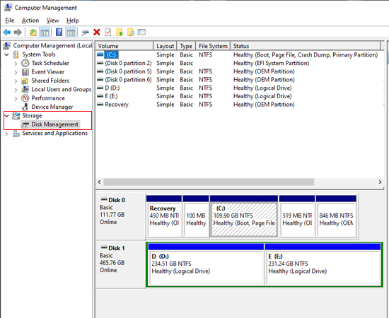 format SSD bằng Disk manager