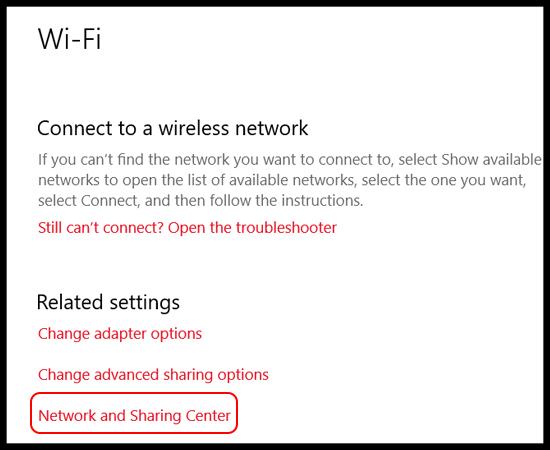 Bước 3: Tại đây bạn chọn Network and Sharing Center.