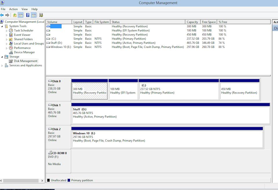 Ứng dụng Disk Management có sẵn trên Windows.