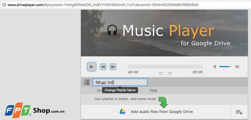 Hướng dẫn tạo danh sách phát nhạc Chrome 06