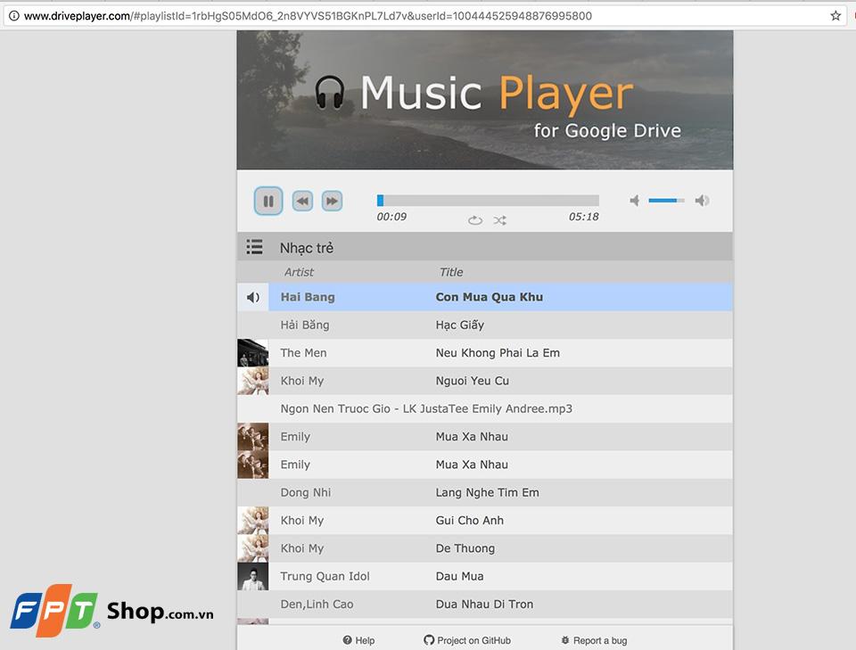 Hướng dẫn tạo danh sách phát nhạc Chrome 08