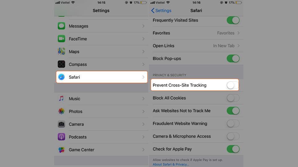 5 mẹo tăng tính bảo mật cho trình duyệt Safari trên iPhone (Ảnh 6)