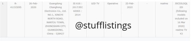 Realme chuẩn bị ra mắt smart TV 43 inch - Ảnh 2.