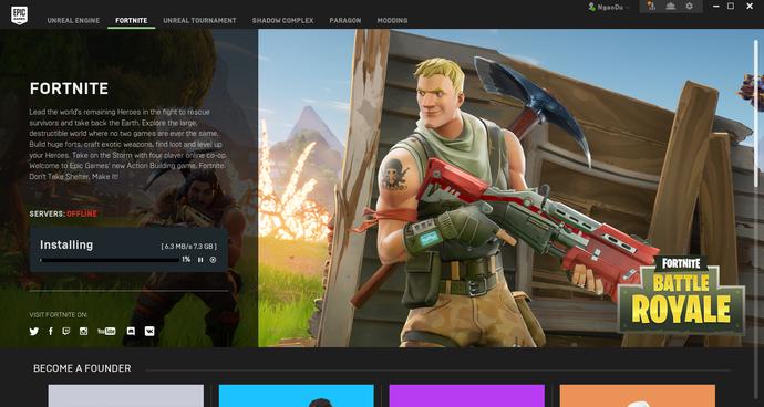 Chọn Installing và chờ đợi game được tải về.
