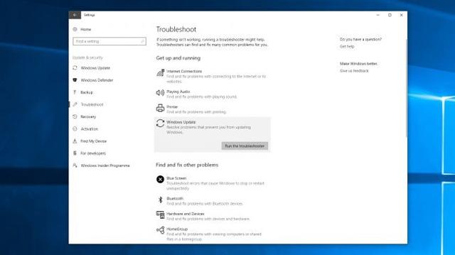 Trình khắc phục sự cố Windows