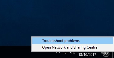 Chọn Troubleshoot problems