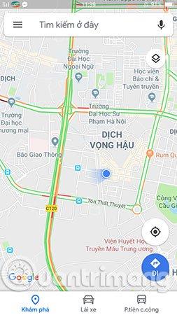 Google Maps sẽ cho bạn biết tình hình giao thông hiện tại