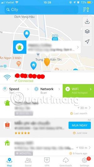 Kiểm tra địa điểm Wifi