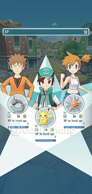 Lên cấp Pokemon Master