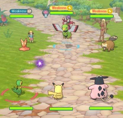 Trận đấu 3v3 trong Pokémon Masters