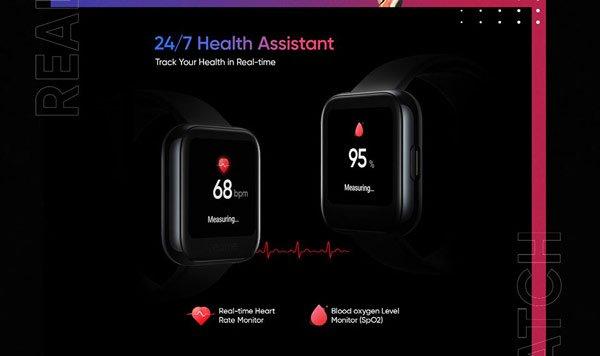 Realme Watch cũng sẽ hỗ trợ đo được nồng độ oxy trong máu và đo nhịp tim theo thời gian thực